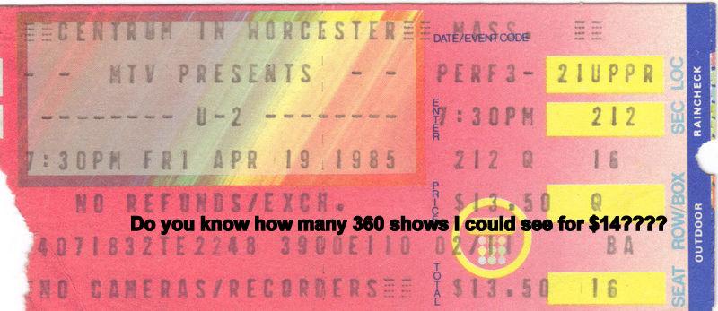 U2 Ticket 1985-1